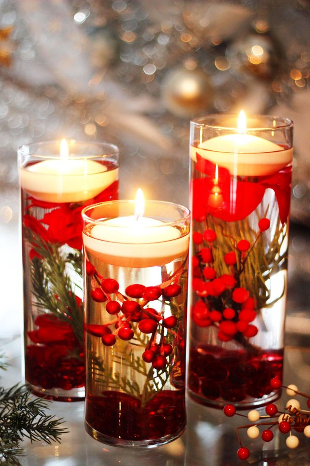 floating holiday candles