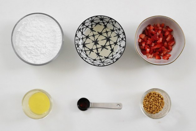 Ingredients for champagne glaze