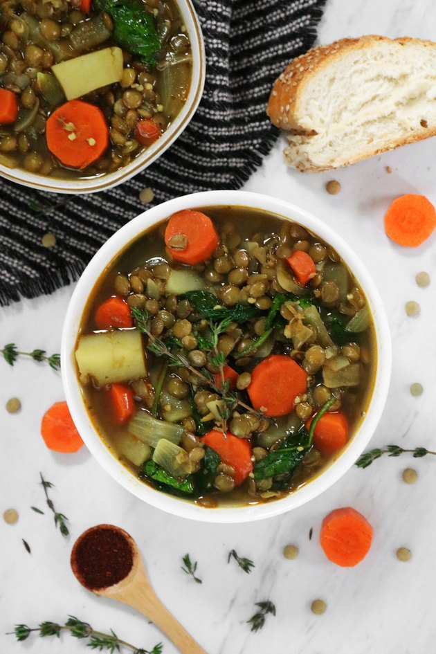 Lentil & potato stew