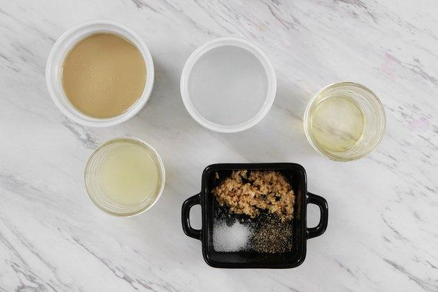 Ingredients for lemon tahini sauce