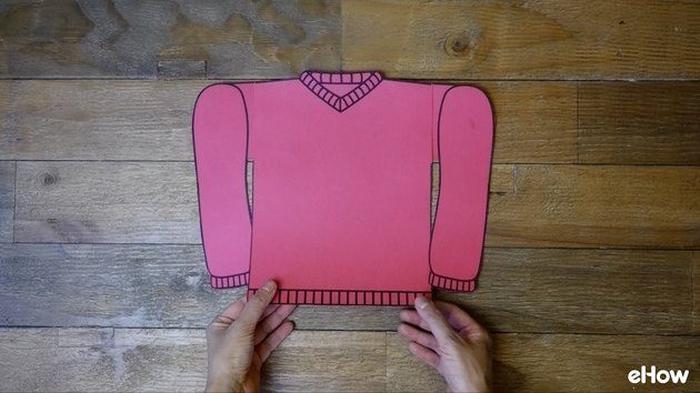 Template for DIY Ugly Christmas Sweater Gift Wrap template