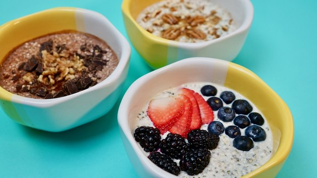 Keto Oat-Free Overnight Oats Three Flavors