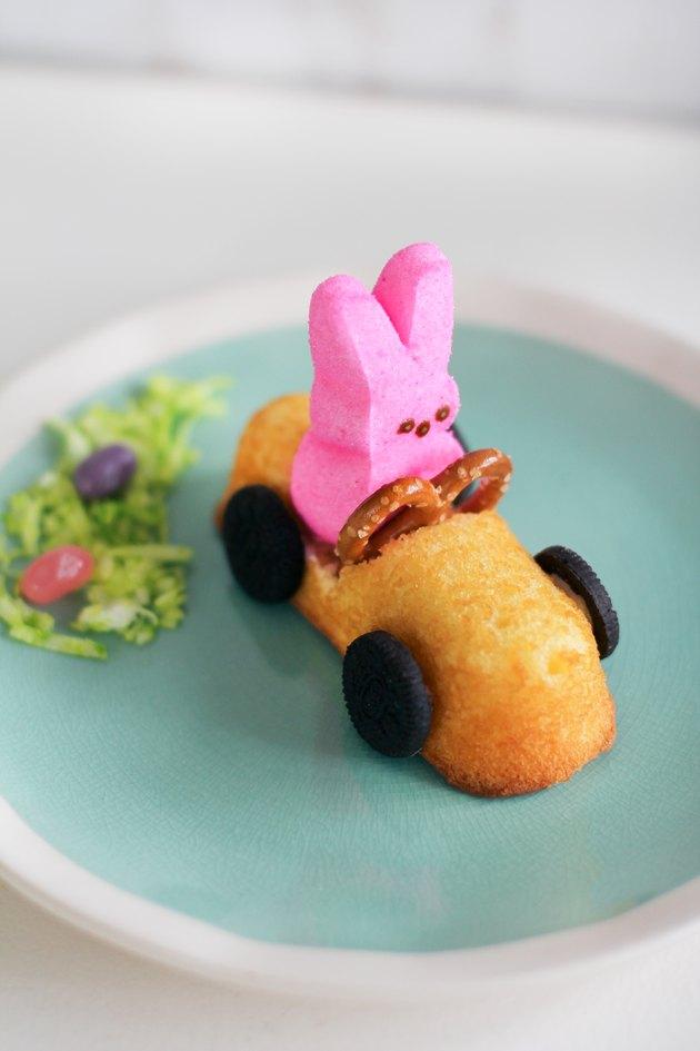 Peeps bunny race car dessert