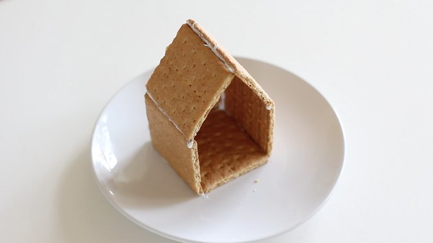 Graham cracker house assembled