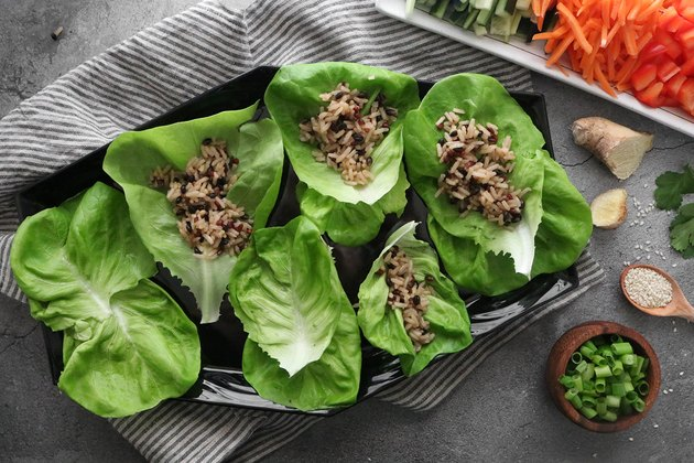 Arrange lettuce wraps