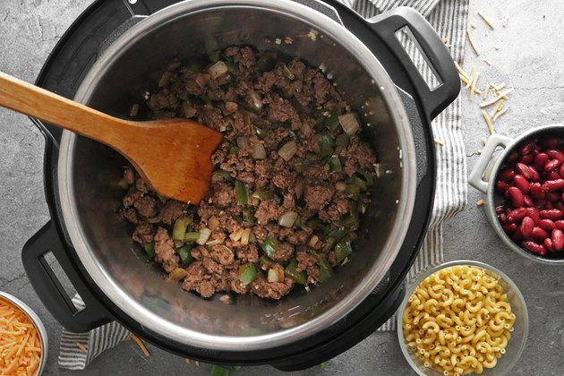 Cook ground meat