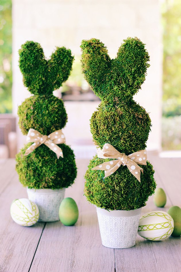 bunny topiary centerpiece