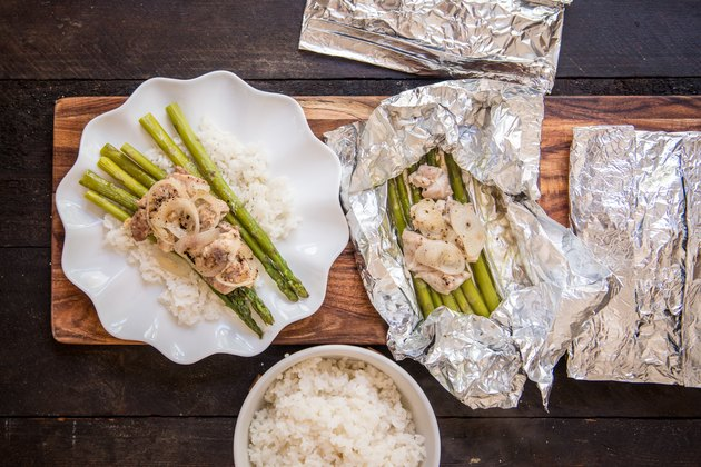 Make Ahead Foil Pack Chicken Asparagus Dinners