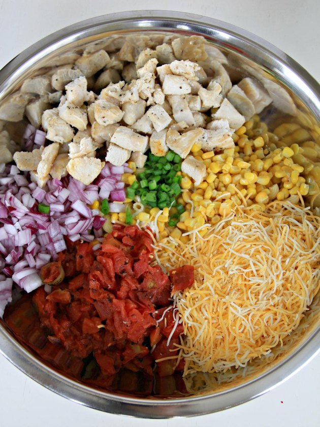 mix ingredients together