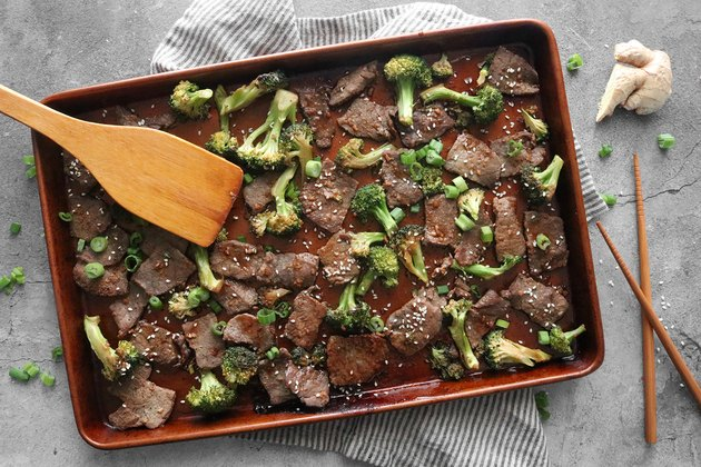 Bake the beef and broccoli