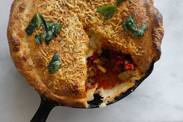 This calzone is an easy and delicious weeknight dinner.