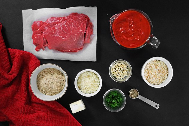 Ingredients for beef braciole