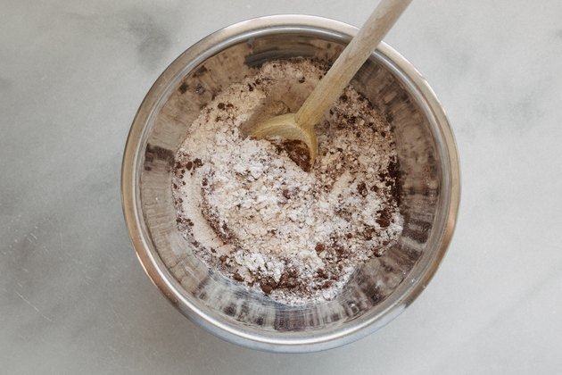 Whisk together the dry ingredients.