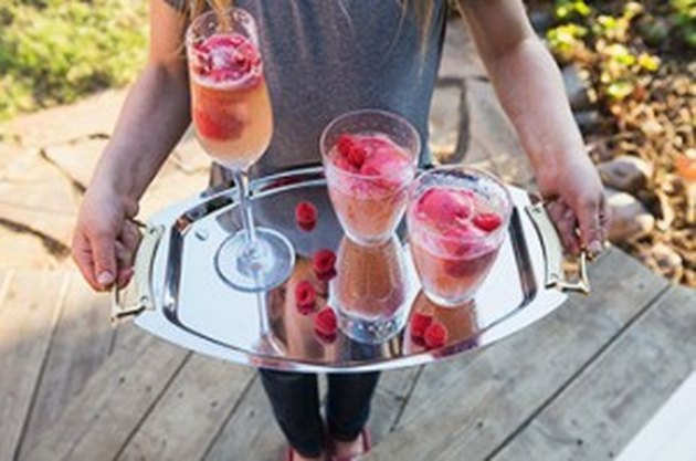 How to Make Raspberry Sorbetto Bellinis (& Mini Mocktails)