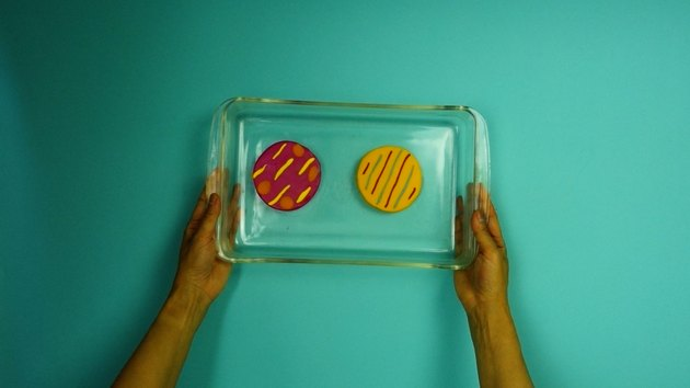 Baking polymer clay coasters