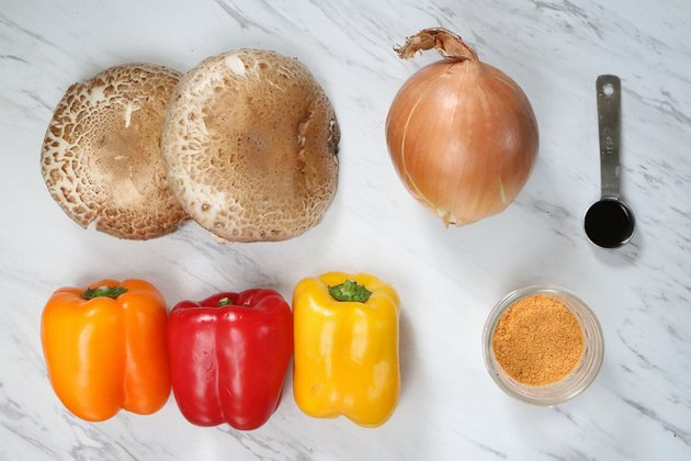Ingredients for vegan fajitas