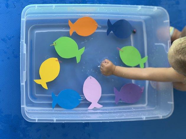 DIY Magnetic Fishing Game