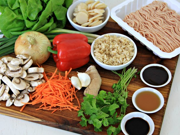 ingredients for healthy turkey lettuce wraps