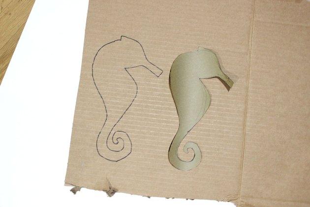 cardboard seahorse