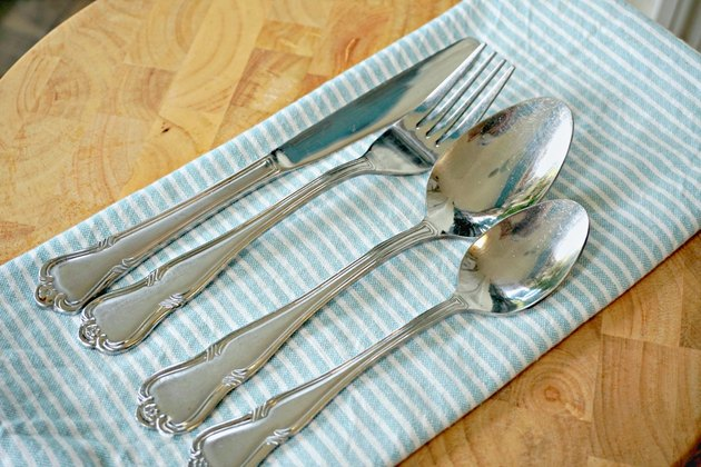 how to remove scratches from silverware