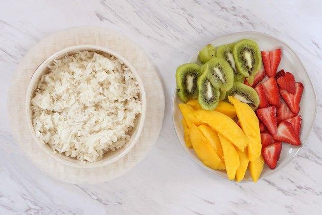 Ingredients for fruit spring rolls