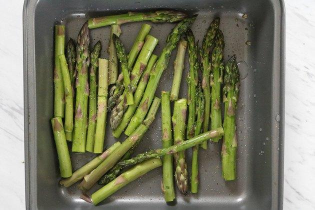 Prepare asparagus