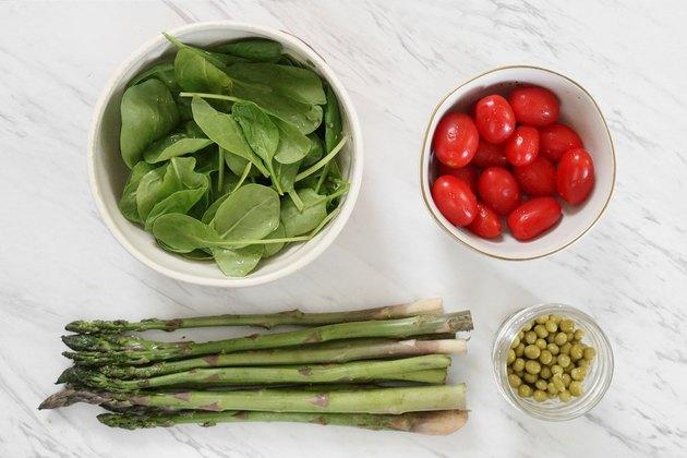 Spring garden vegetables