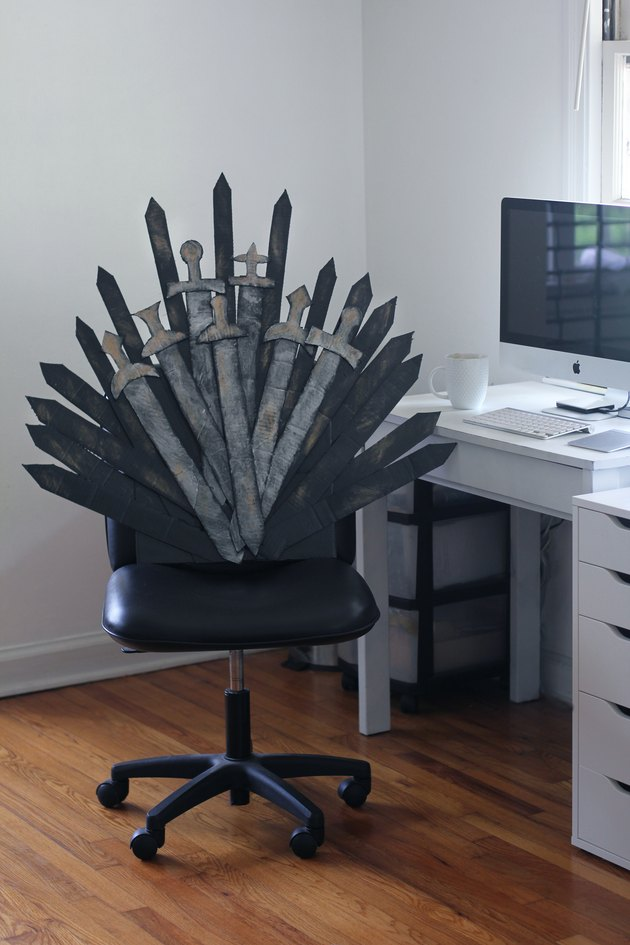 DIY Iron Throne office chair