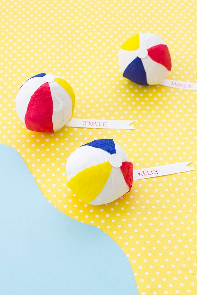 DIY Mini Beach Ball Party Favors