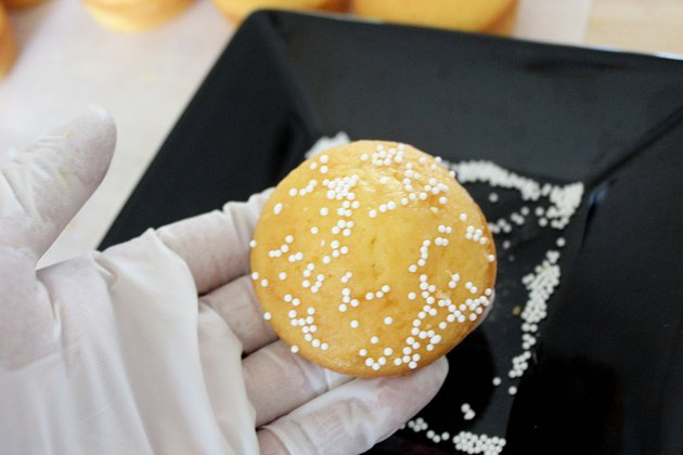sprinkles on bun