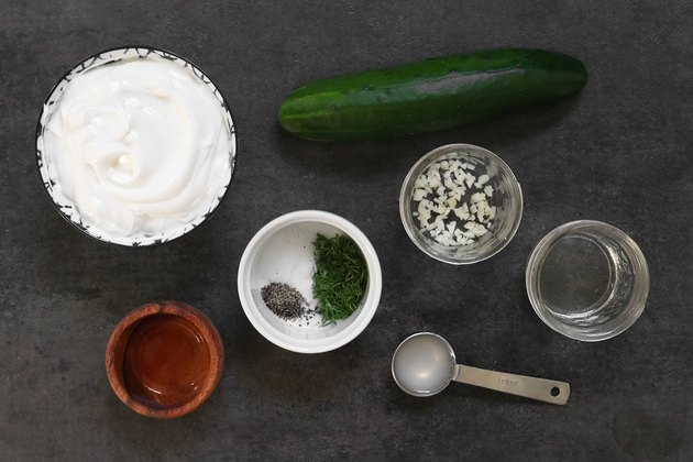 Ingredients for tzatziki sauce
