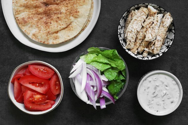 Ingredients for chicken gyros