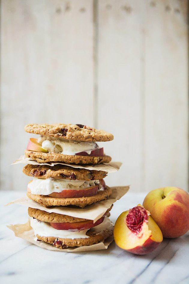 Peaches and Pecan Bourbon Ice Cream Sandwiches Recipe