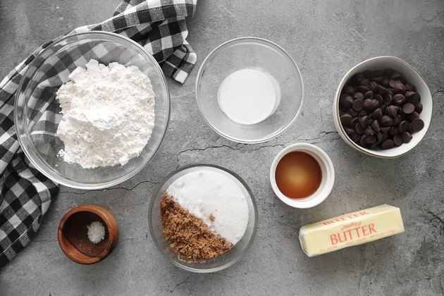 Ingredients for edible cookie dough