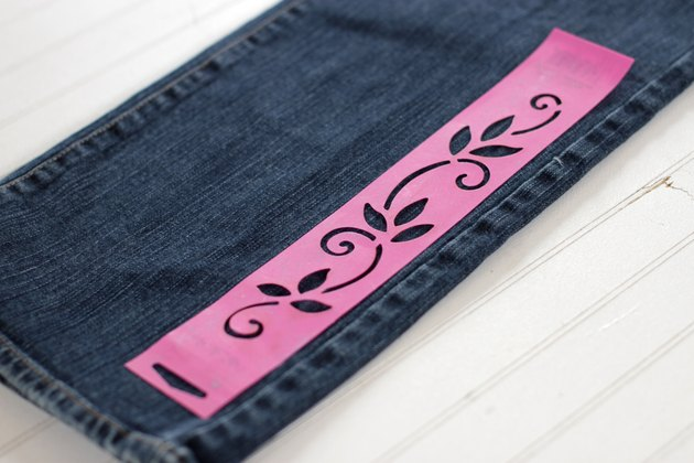 Give your plain jeans some personality by using a stencil and bleach to add some fun designs. Cover them with patterns or just put a few strategically placed pictures to alter your jeans and make them your own.