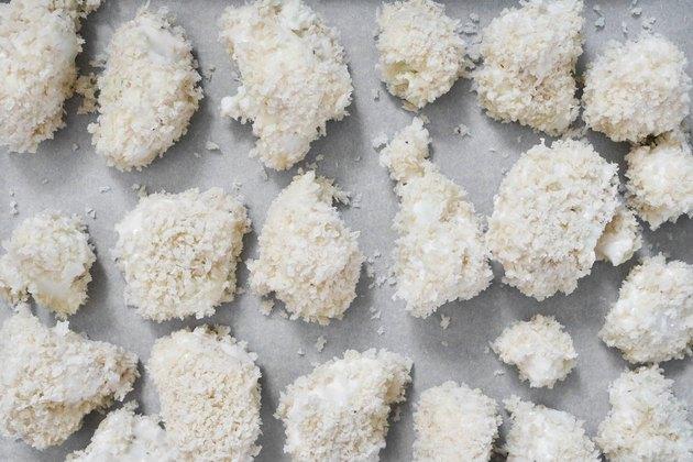Breaded cauliflower florets
