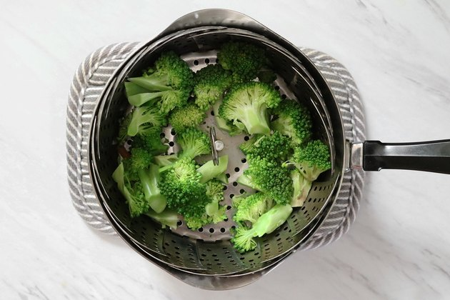 Steam broccoli florets