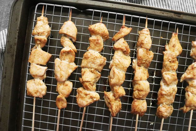 Roast or grill Thai chicken satay