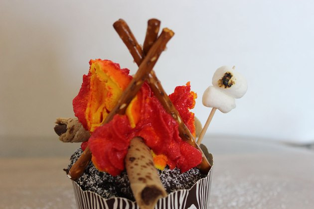 marshmallow by fire