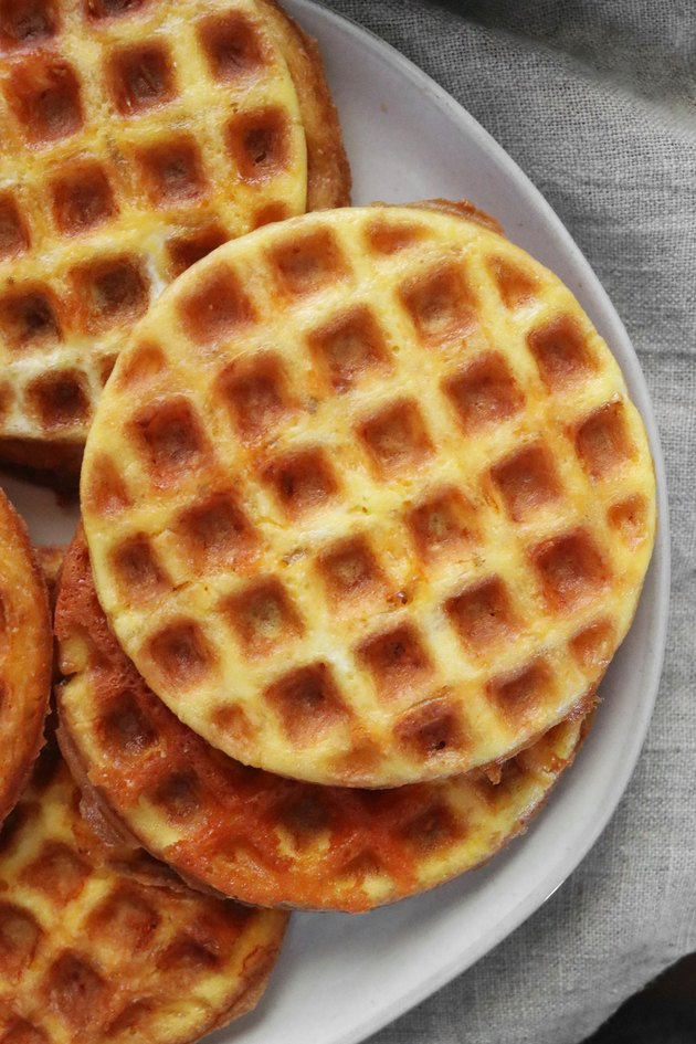 Cheese and egg waffles