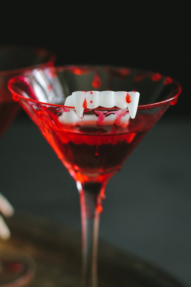 Bloody vampire cocktail