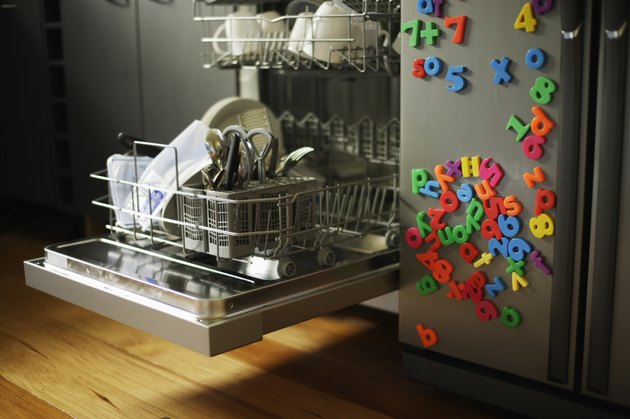 Dishwasher loaded with items