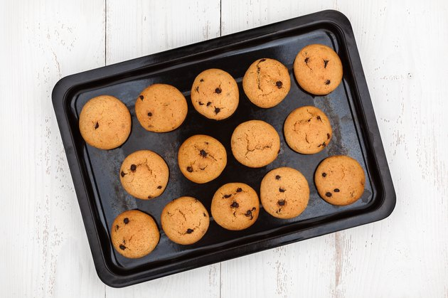 Cookies With Chocolate on baking pan