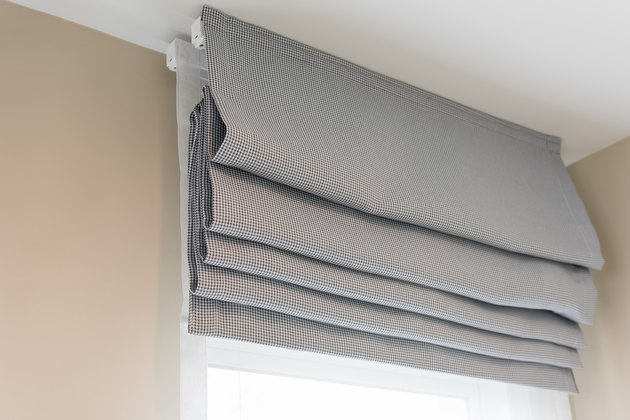 closed up of beautiful  grey curtain