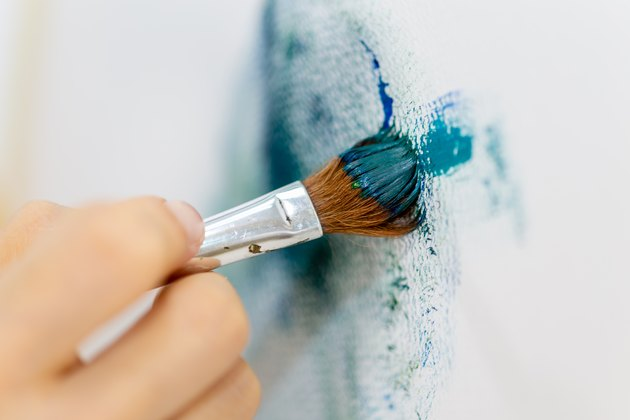 Brush stroke on canvas painting