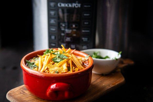 Chicken enchilada soup