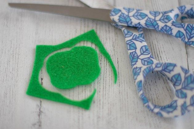 cut green felt