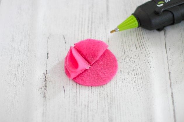 attach second felt petal