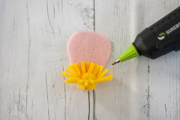 attach petal to flower center