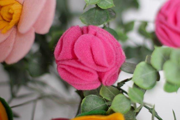 finished pink rose